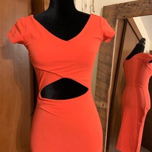 Topshop BodyCon Red dress with sexy cutout!!